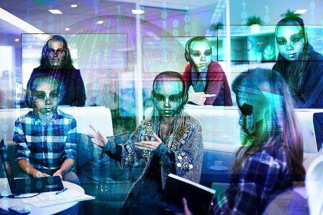 Workplace digitization robot, business finance.