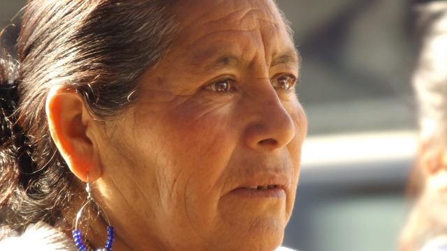 Wrinkles women face, people.