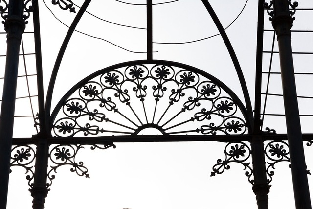 Wrought iron pavilion free standing, architecture buildings.