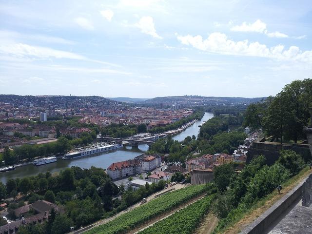 Würzburg river view, nature landscapes.