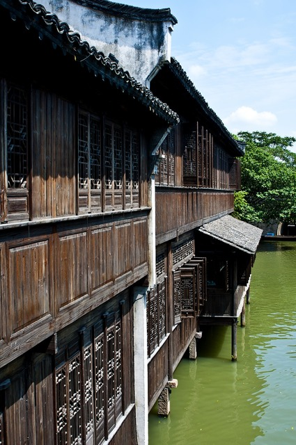 Wuzhen watertown building, architecture buildings.