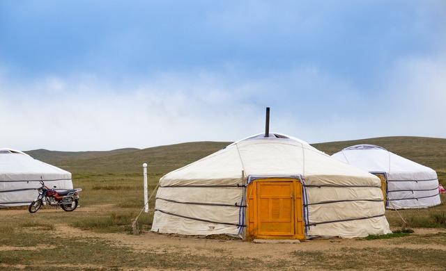 Yurt mongolia steppe, travel vacation.