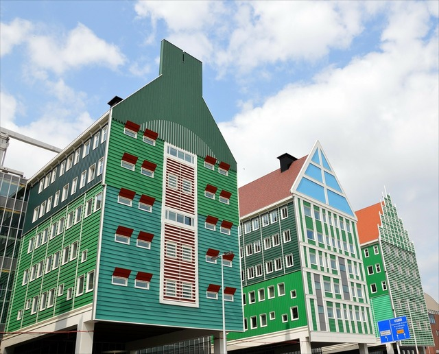 Zaandam traditional style holland, architecture buildings.