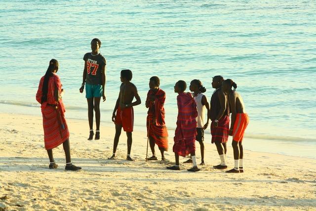 Zanzibar masai beach, travel vacation.