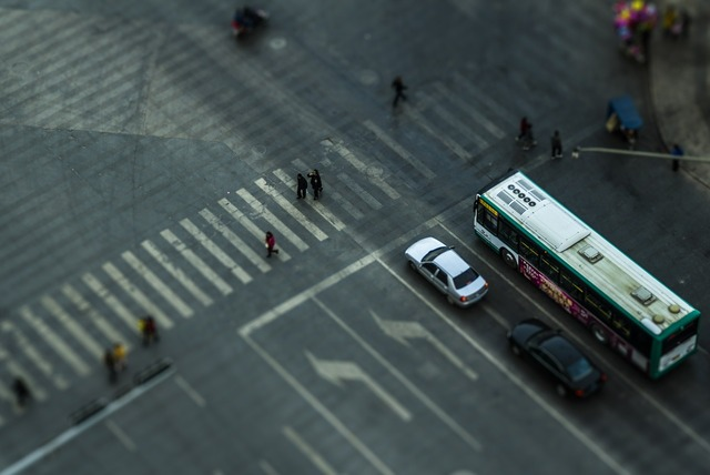 Zebra crossing shift documentary, transportation traffic.