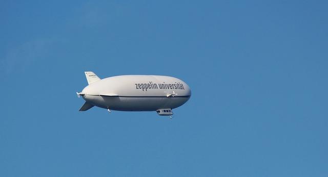Zeppelin airship aircraft.