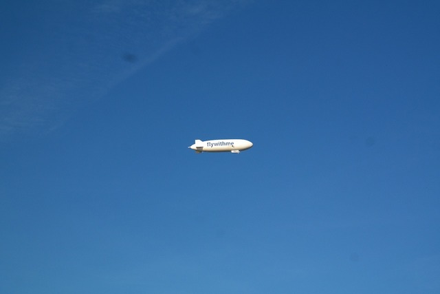 Zeppelin fly rigid airship.