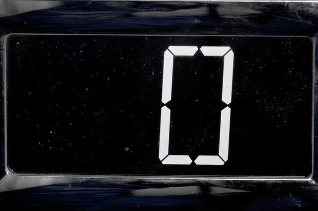 Zero electronic digit, science technology.
