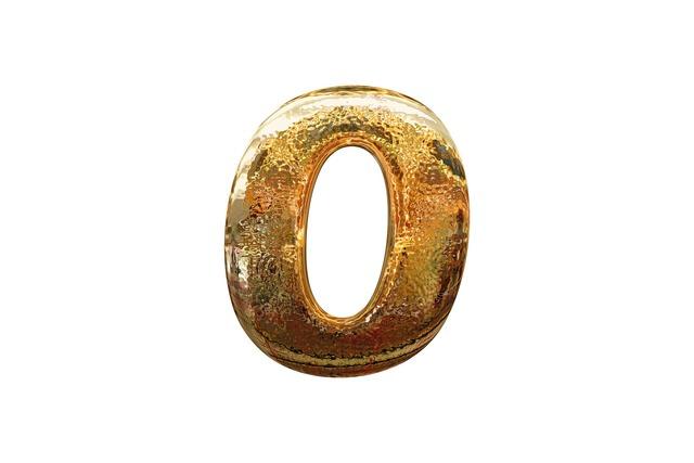 Zero number digit.