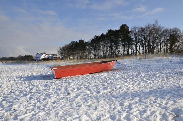 Zingst baltic sea beach, travel vacation.