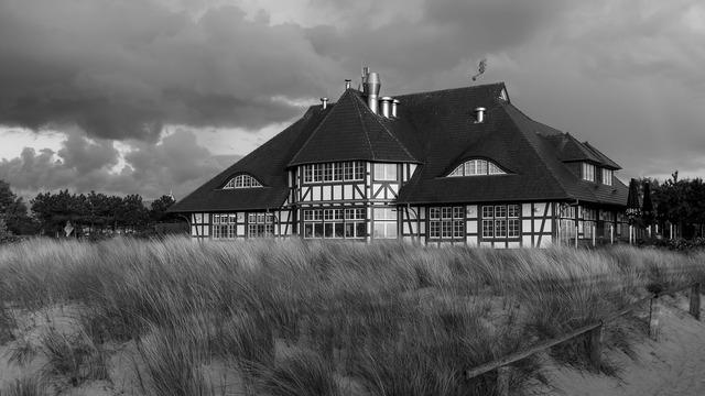 Zingst beach kurhaus, travel vacation.