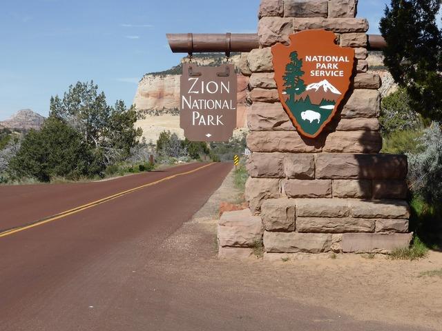 Zion national park entrance national park.