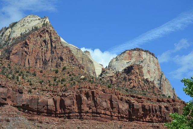 Zion zion national park canyons, nature landscapes.