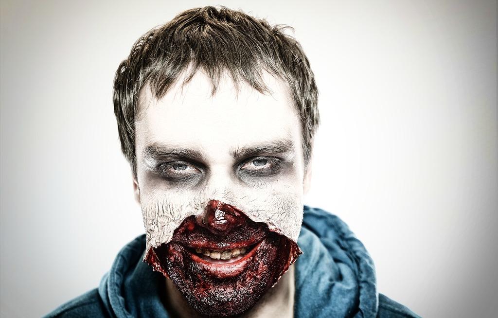 Zombie spooky horror, people.