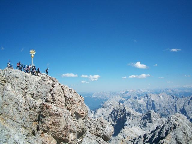 Zugspitze summit panorama.